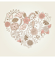 Floral vintage heart shape vector | Price: 1 Credit (USD $1)