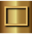 frame on gold vector image vector image