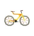 Futurictic Design Yellow Bicycle vector image