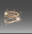 golden glowing circles light effects vector image