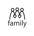 happy family with hearts design template vector image