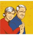 happy mature couple in pop vector image