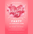 happy valentine day party flyer vector image vector image