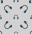 headphones icon sign Seamless pattern with vector image vector image