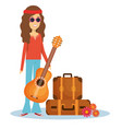 hippie people design vector image vector image