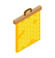 Honeycomb frame isometric 3d icon vector image
