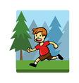 Kids Activity Run vector image vector image