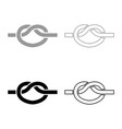 knot rope tied node join concept noose icon vector image vector image