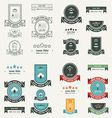 Label And Ribbon 4 style set vector image vector image