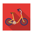 little yellow children s bicycle bicycles for vector image vector image