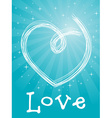 love card with heart vector image vector image