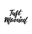 love lettering print just married vector image vector image