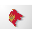 Montenegro map with shadow effect vector image vector image