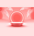 nature stage podium with lighting stage podium vector image vector image