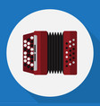 of audio symbol on accordion vector image vector image