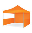 orange promotional tent vector image vector image