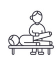 osteopathymanual therapymassage line icon vector image vector image
