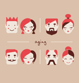people in different ages icon collection vector image