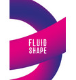 plastic shape modern abstract cover liquid fluid vector image vector image