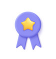 quality guarantee ribbon icon with star premium vector image