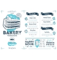 Restaurant cafe bakery menu template vector image vector image