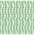seamless background with plant pattern vector image
