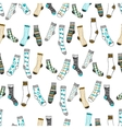 Seamless pattern of doddle socks on a white vector image vector image