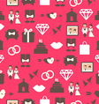 Seamless pattern with wedding equipment vector image vector image