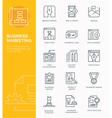 set modern line icon design concept business vector image vector image