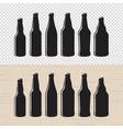 Set of textured craft beer bottle label designs