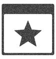 Star Calendar Page Grainy Texture Icon vector image vector image