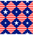 Stars Stripe USA Flag Diamond Chessboard vector image