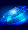 tech circle and technology background speed vector image
