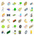 tennis ball icons set isometric style vector image vector image