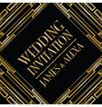 wedding invitation art deco vector image vector image