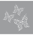 White paper butterflies vector image