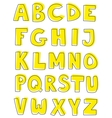 Alphabet letters hand drawn set isolated on white vector image