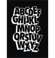 Comic style font type alphabet vector image