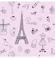 Seamless texture with the image of the Eiffel vector image
