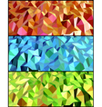 Collection of Abstract backgrounds with triangle vector image