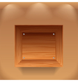 Wooden shelf vector image