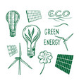 ecological energy sketch vector image