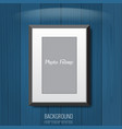 3d empty photo frame on the wall vector image vector image