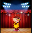 a monkey perform on stage vector image vector image