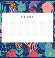 a week decorative background notes vector image vector image