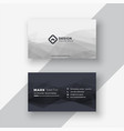 abstract black and white business card vector image vector image