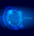 abstract technology design on blue background vector image