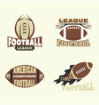 american football championship badge template for vector image vector image