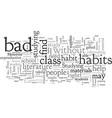 bad study habits vector image vector image