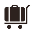 Baggage cart - travel icon vector image vector image